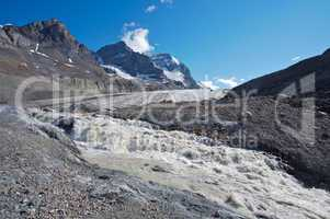 Athabasca Glacier with melt water 01