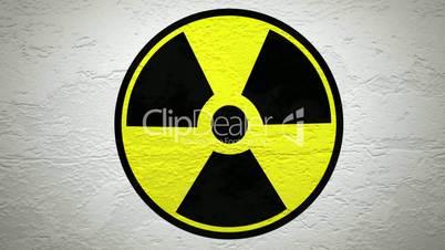 """Graue Wand mit """"Radio""""-Zeichen wird gesprengt"""