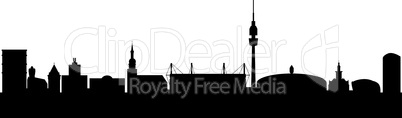 Dortmund Germany Silhouette abstract