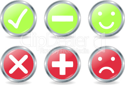 Buttons Of Validation Icons