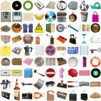 Many objects isolated