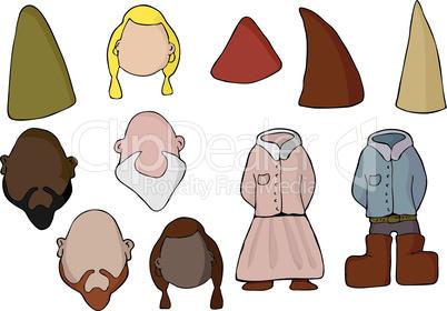 Paper Doll Gnome Set