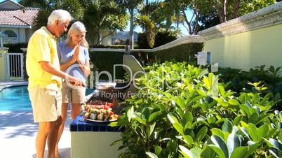 Seniors Healthy Eating Barbeque