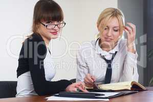 Business communication in office