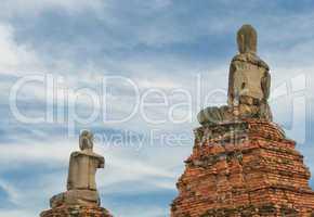 Buddha statues at Wat Wattanaram, Ayutthaya