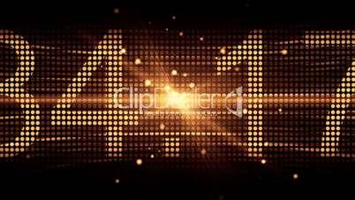 Number Illustrates on Orange LED Screen