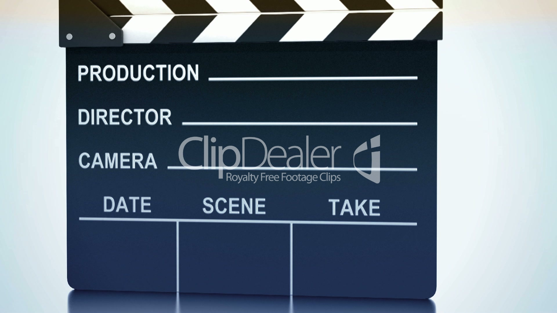 Clapping clapper with studio light Royalty free video and stock