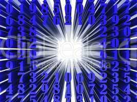 Dark blue numeral