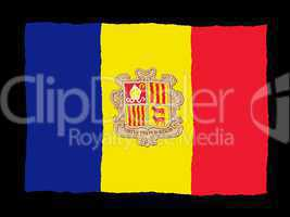 Handdrawn flag of Andorra
