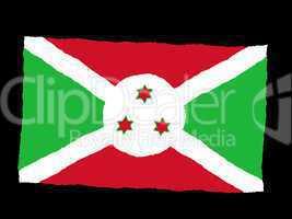 Handdrawn flag of Burundi