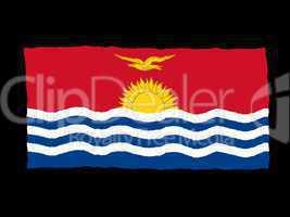 Handdrawn flag of Kiribati