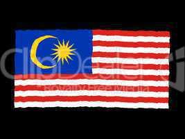 Handdrawn flag of Malaysia