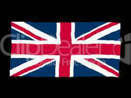 Handdrawn flag of the UK Union Jack