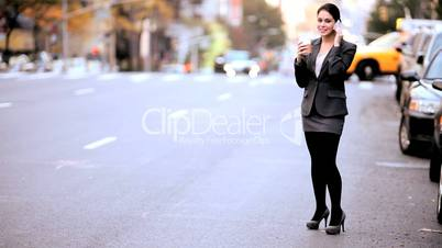 Young Businesswoman Talking on a Cell Phone