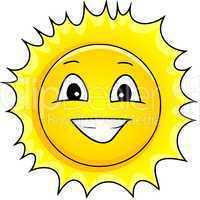 grinsende Sonne