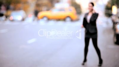NY Businesswoman with Cell Phone