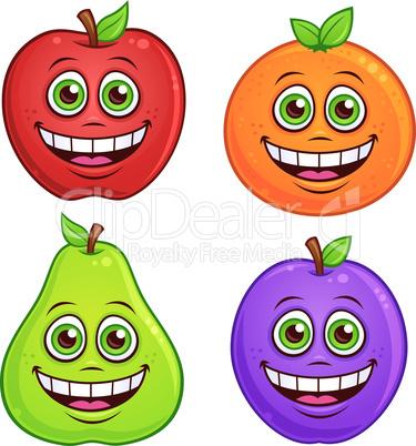 Cartoon Fruit Characters