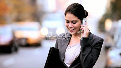 City Business Executive With Cell Phone