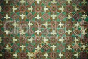 Tiled background with oriental ornaments .