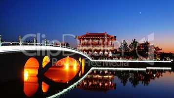 Night scenes of Xian,China