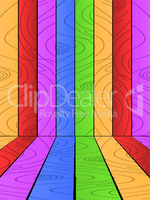Multicolored wooden background.eps