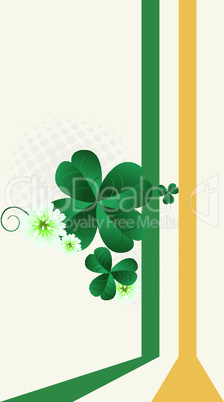 St.Patrick's Day post card.eps