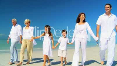 Family Generations Walking Together
