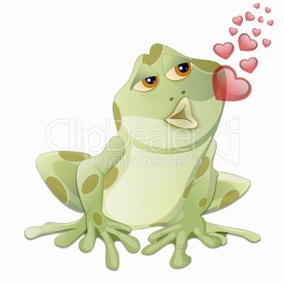 Küssender Frosch