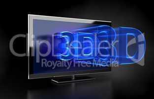 Flat TV - 3D HD concept