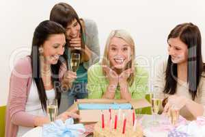 Birthday party - surprised woman celebrate