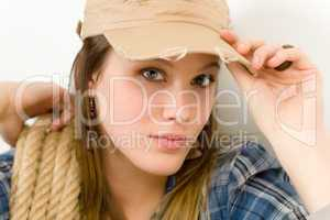 Fashion model - young woman country style