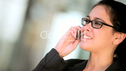 Businesswoman With Cell Phone in Close-up