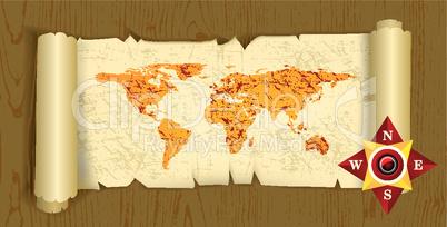 alte Landkarte