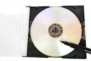 felt  pen near blank CD