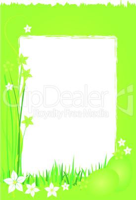 Grüner Hintergrund Ostern Frühling