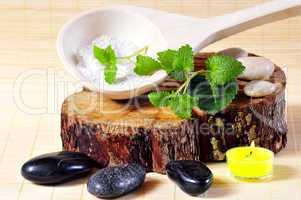 Sauna Wellness Kerze Steine