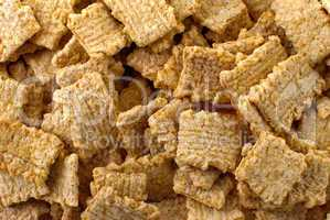 Crunchy breakfast cereals background