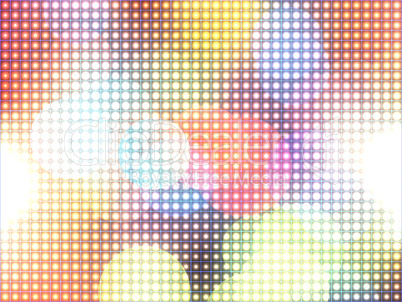 Colorful defocus light halftone background