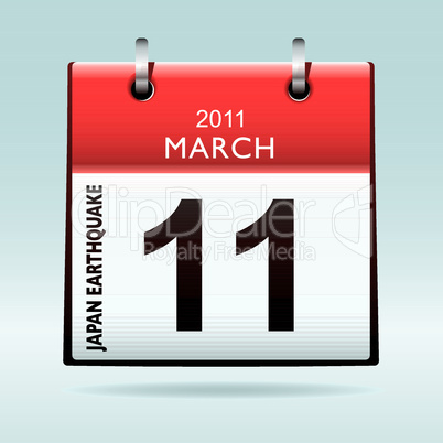 calendar icon japan earthquake