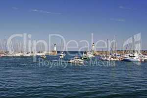 Belle-Ile, Le Palais, Hafen mit Leuchtturm