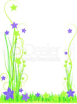 Karte Blumen grün
