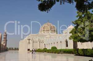 Sultan Qaboos Moschee - Innenhof
