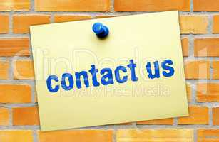 contact us - Business Concept