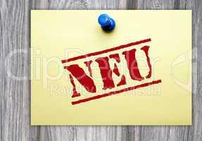NEU - Business Konzept