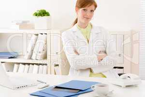 Doctor office - portrait female physician