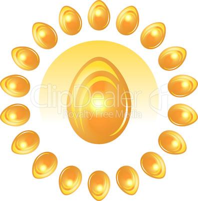 Golden Easter Eggs