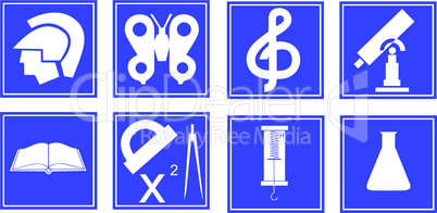 Set of educational symbols