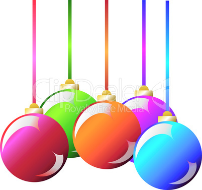 Vector. New Christmas colourful decoration: christmas ball