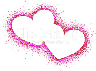 Abstract hearts. Vector illustration