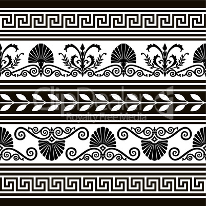 Set of antique borders and elements